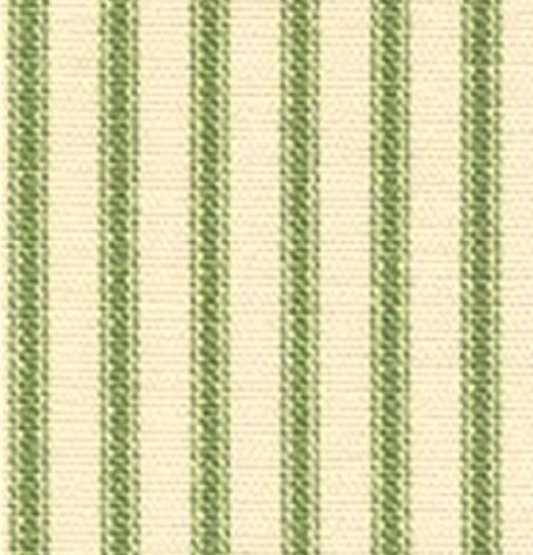 French Country Apple Green Ticking Stripe King Reversible Duvet Cover front-996586
