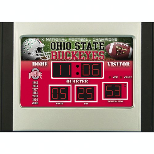 NCAA Ohio State Buckeyes Scoreboard Desk Clock
