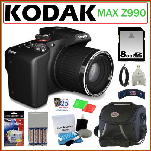 Kodak EasyShare Max Z990 12.0 MP Digital Camera with 30x Optical Zoom and 3.0-Inch LCD + 8GB Accessory Kit