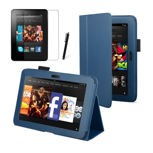 Blue Executive Multi Function Standby Case for the New Kindle Fire HD 7