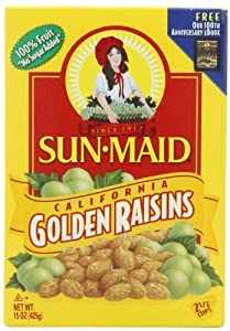 Sun Maid California Golden Raisins, 15-Ounce Boxes (Pack of 6)
