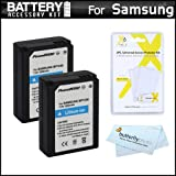 2 Pack Battery Kit For Samsung NX1000, NX210, NX200, NX300, NX2000, NX1100 Digital Camera Includes 2 Extended Replacement (1200 maH) ED-BP1030, ED-BP1130 (BP1030), (BP1130) Batteries + LCD Screen Protectors + MicroFiber Cleaning Cloth