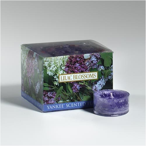 Yankee Candle Lilac Blossoms Scented Tea Lights (Box Of 12)