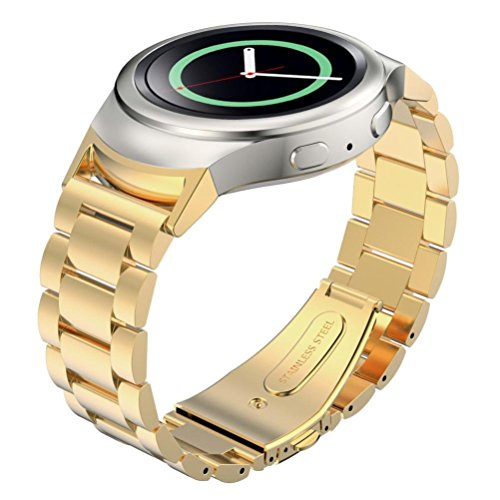 Samsung Gear S2 Watch Band + Connector,Tevies® Stainless Steel Watche Band + Connector For Samsung Galaxy Gear S2 SM-R720 from Tevies