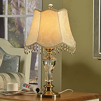 decorative crystal table lamp bedroom bedside lamp