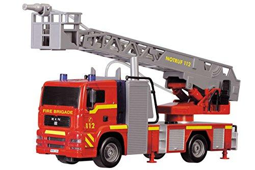 Dickie-Toys-203715001-City-Fire-Engine-Feuerwehrauto-mit-manueller-Wasserspritze-31-cm