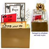 100th Birthday Gift Basket - Live Your Life - with 1914 Trivia Booklet