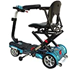 EV Rider TransportFolding Mobility Scooter w,Arm Rests, Upgraded 12V15Ah Long Range Batteries & 3 Color Choices! (Blue)
