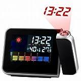 ProDeals(TM) Digital Weather Projection Snooze Alarm Clock Color Display LED Backlight