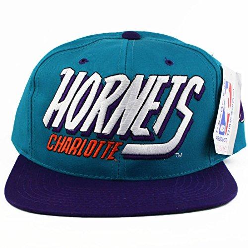 Vintage Charlotte Hornets AJD Snapback Hat (Starter Hornets Snapback compare prices)