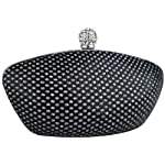 Shimmer Sprinkle Leatherette Rhinestone Closure Boat shaped Hard