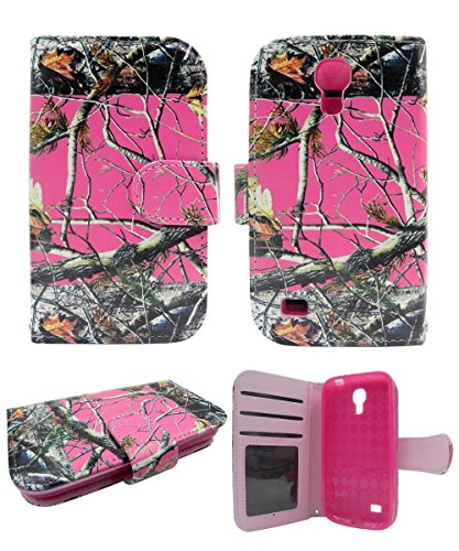 Pink Wood Camo Mossy Oak Hunting Winter Camoflauge Samsung Galaxy S4 Mini/samsung Galaxy S Iv Mini/i9190/i9192/l520/ R890/ Gt-i9195/ Sch-i435/ Sgh-i257 (At&t, Sprint, U.s. Cellular, Verizon Wireless) Pu Book Leather Wallet Credit Card Flip Open Pocket Case Cover Pouch (Samsung S4 Mini I257 Case compare prices)