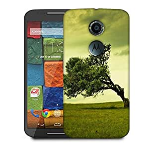 Snoogg Green Tree Designer Protective Phone Back Case Cover For Moto X 2nd Generation