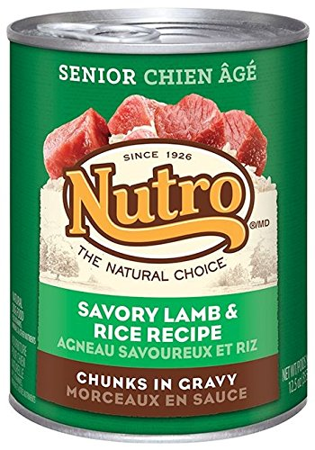 Nutro Senior - Lamb & Rice Formula - 12x12.5 oz