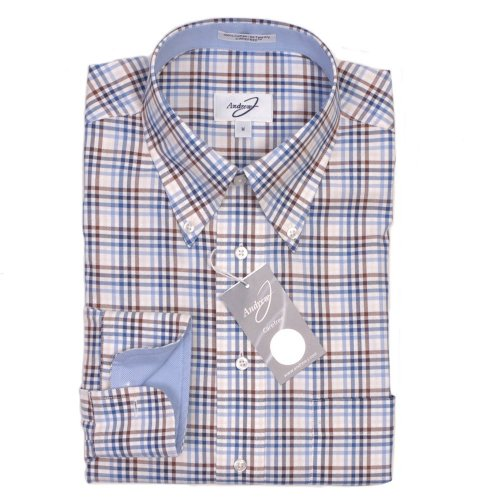 Andrew J Carefree Shirt - Brown Check Casual