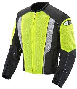 Joe Rocket Phoenix 5.0 Men's Mesh Motorcycle Riding Jacket (Hi-Vis Neon/Black, Medium)