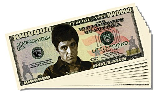 Scarface Million Dollar Bill - 25 Count with Bonus Clear Protector & Christopher Columbus Bill