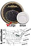 Miller Planisphere Star Finder, Size Large - Model 50 degree - for latitudes 45N to 55N