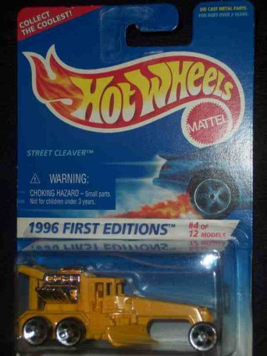 Hot Wheels 1996 #4 Street Cleaver 5-Hole Chrome Engine Large Front Wheel #373 1:64 Scale