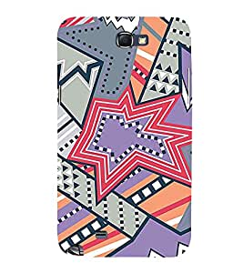 Star Design Pattern 3D Hard Polycarbonate Designer Back Case Cover for Samsung Galaxy Note i9220 :: Samsung Galaxy Note 1 N7000
