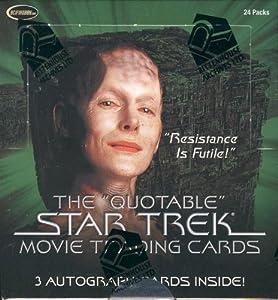Star Trek The Quotable Star Trek Movie Trading Cards Box