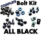 Complete Black Fairing Bolt Kit Screws Fasteners for Suzuki Katana 600/750 1988-1997