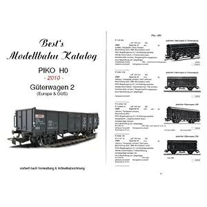 Best`s Modellbahn Katalog PIKO H0 Güterwagen 2 (EU+GUS) – 2010: Güterwagen Eu + GUS, sortiert nach Artikelbezeichnung [Taschenbuch]
