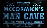 qe1449-b MCCORMICK's Man Cave Hockey Bar Neon Sign