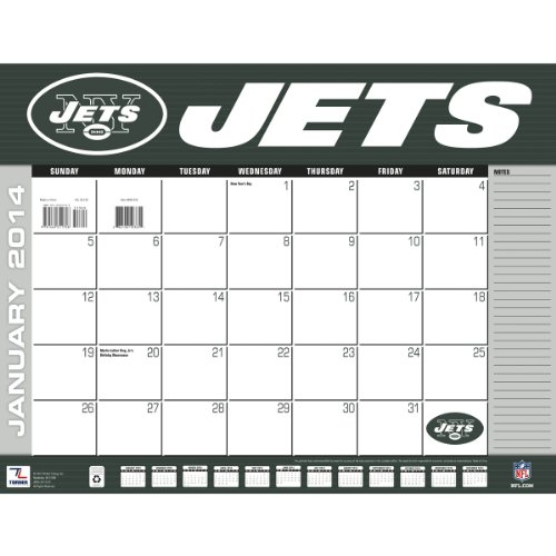 Turner - Perfect Timing 2014 New York Jets Desk Calendar, 22 x 17 Inches (8061359) at Amazon.com