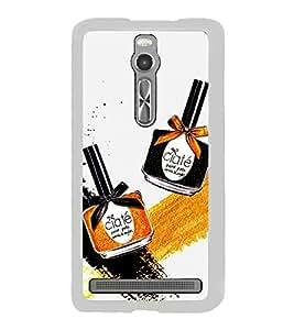 Make up Bottles 2D Hard Polycarbonate Designer Back Case Cover for Asus Zenfone 2 ZE551ML