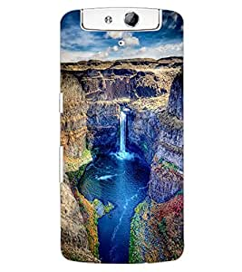 ColourCraft Beautiful Waterfall Design Back Case Cover for OPPO N1