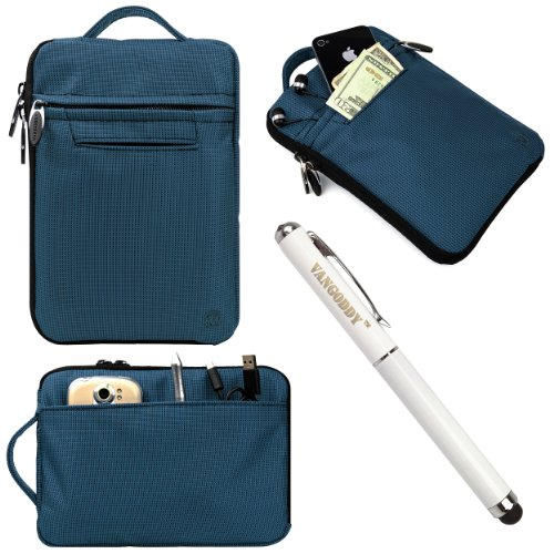 "Vg Hydei Blue Nylon Bag Carrying Case For Toshiba Encore Mini 7 / Excite 7C / Excite Go 7"" Tablets + 3 In 1 Stylus Pen"