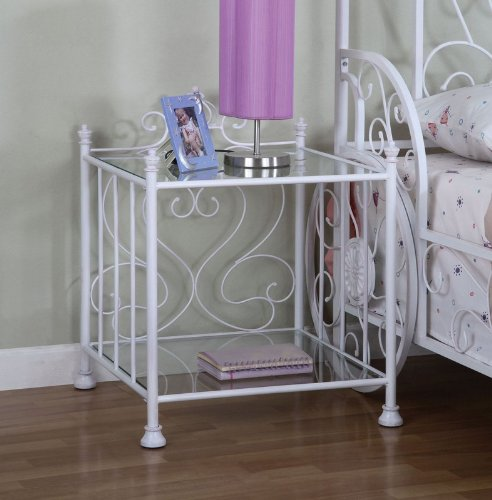 Cheap Kids Princess Emily Nightstand in Antique Hand Washed White Finish (AZ00-46922×20155)
