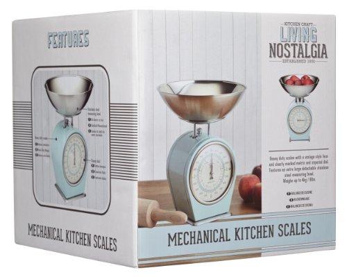 Vivre nostalgie 1-piece kitchen craft salon nostalgie mécanique balance de cuisine, bleu