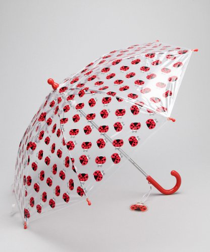 Girl's Red Ladybug Umbrella