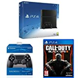 Sony PlayStation 4 Console 500 GB Edition Jet Black with a Jet Black DualShock 4 Controller and Call of Duty: Black Ops III