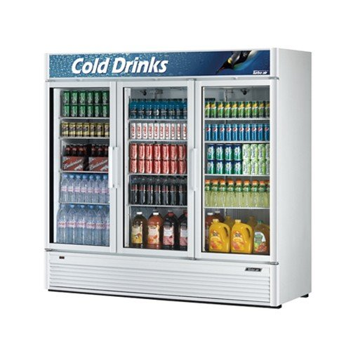 """Turbo Air Tgm-72Sd 78"""" Three-Section Refrigerated Display W/ Swing Doors, Bottom Mount Compressor, 115V, Each front-619623"""