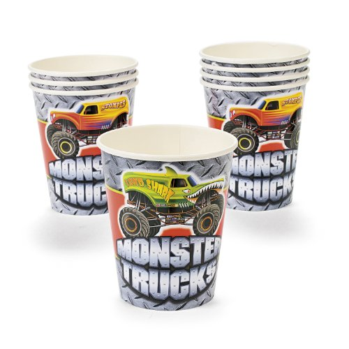 Monster Truck Paper Cups (8 pc) by Fun Express