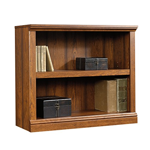 sauder-2-shelf-bookcase-washington-cherry