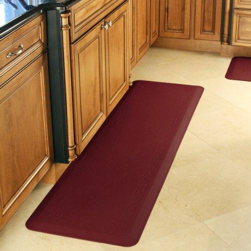 Smart Step Home Collection Fleur-de-Lys Design Mat, 72-Inch by 20-Inch, Burgundy
