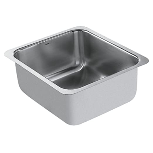 Moen G18443 1800 Series 18-Gauge Single Bowl Undermount Sink, Stainless Steel