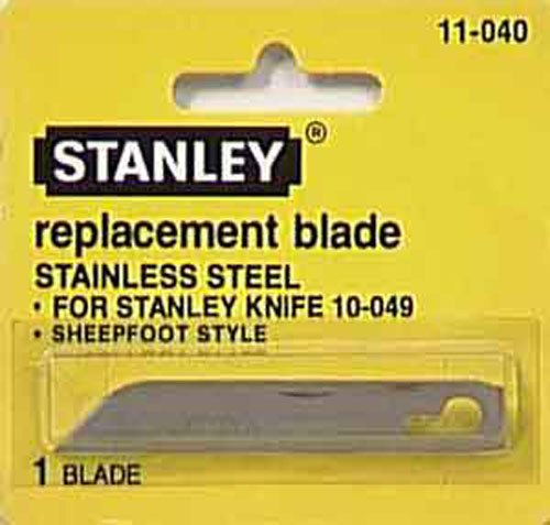 10 Pack Stanley 11-040 Sheepfoot Replacement Heavy Cutting Blade For 10-049 Pocket Knife
