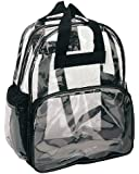 Clear Backpack with Smooth Plastic Completely Transparent