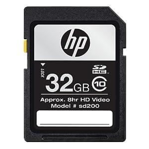 HP Class 10 SDHC Flash Memory Card