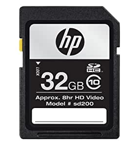 HP 32 GB SDHC Flash Memory Card CG790A-GE