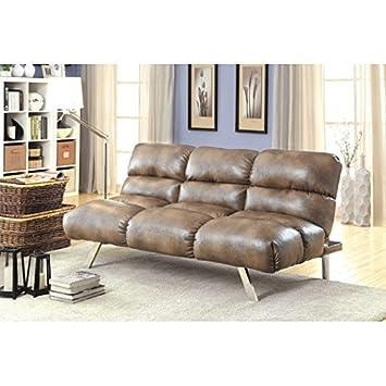 Senthie Futon Sofa by Hokku Designs, Mocha