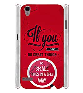 Great Things Quotes Typography Soft Silicon Rubberized Back Case Cover for Oppo F1
