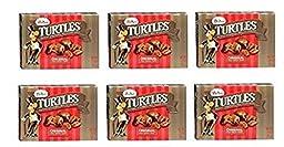 Demet\'s Turtles Original, Caramel Nut Clusters, Pecans Chocolate Caramel Pack of 6 Boxes (2.9 oz each)