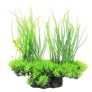Artificial Water Aquarium Green Grass Long Leaf Plant Landscape Decor