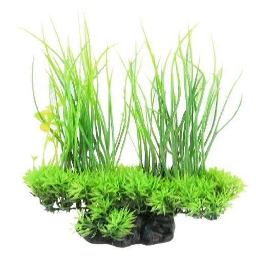 Jardin Plastic Emulational Decorative Long Leaf Plant for Aquarium, 20cm, Green